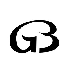 monogram from linked letters g and b logo vector image vector image