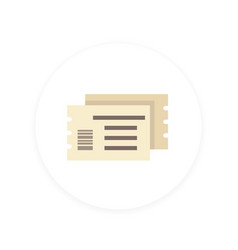 ticket icon flat style vector image