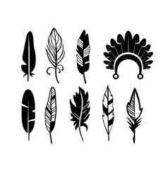 A set of cute hipster arrows hand drawn doodles vector image