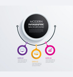 Abstract 3 circle infographics number options vector
