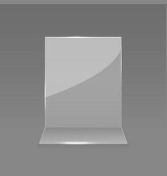 Acrylic glass table card display vector