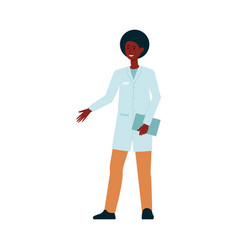 African-american medical doctor standing and vector