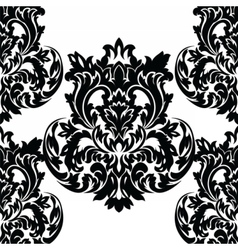 Baroque floral Damask ornament pattern vector image