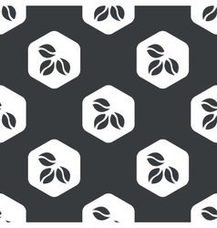 Black hexagon coffee pattern vector