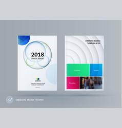 brochure design paper-cut template colourful vector image