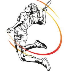bulutangkis vector image