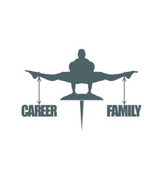 career and family balance vector image