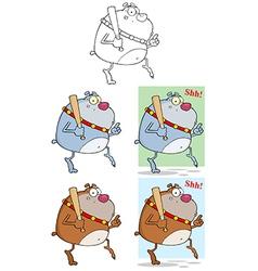 Cartoon dog design vector