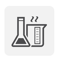 chemical glass icon vector image