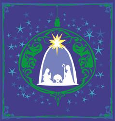 Christian christmas nativity scene bajesus vector