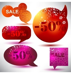 christmas sale glossy bubbles vector image