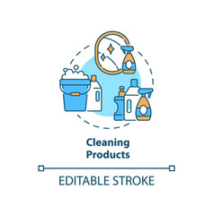 Cleaning products concept icon vector