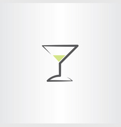 Cocktail drink glass logo icon symbol element vector