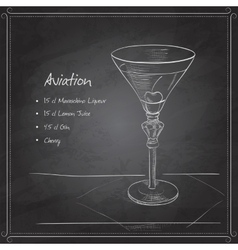 Coctail aviation on black board vector