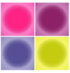 Comic multicolored halftone background vector