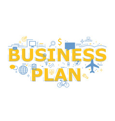 creative business plan word letter vector image