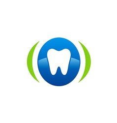 Dentist care medical abstract logo vector