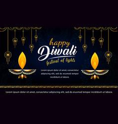 diwali festival banner design template vector image