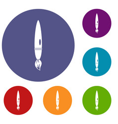 Drawing brush icons set vector