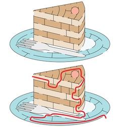 Easy cake maze vector