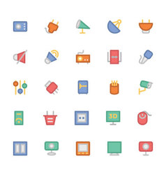 Electronics Colored Icons 10 vector