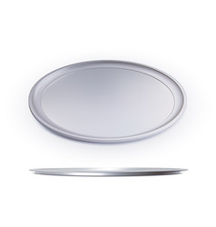 Empty plate isolated on a white side and top vector