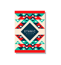 Ethnic style original ethno tribal geometric vector