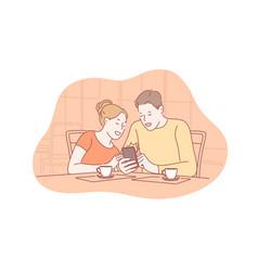 family communication addiction social media vector image