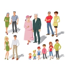 Family Generations Cartoon Set vector image