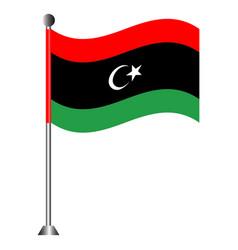 Flag libya vector