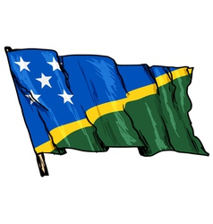Flag of Solomon Islands vector