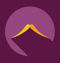 Flat modern design with shadow icon mustache vector