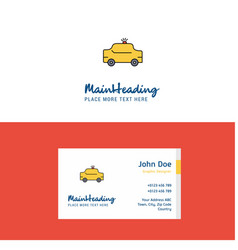 flat taxi logo and visiting card template vector image
