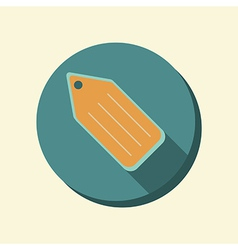 flat web icon label vector image
