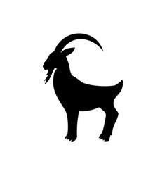 Icon mountain goat animal vector