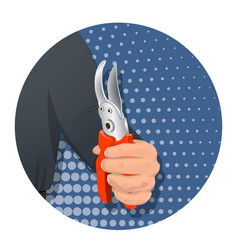 item in the man s hand-08 vector image