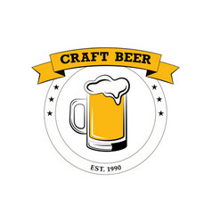 label delicious foam beer drink label for the vector image