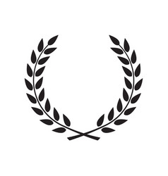 Laurel wreath - symbol victory and power flat vector