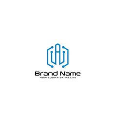 Letter logo a technology design vector
