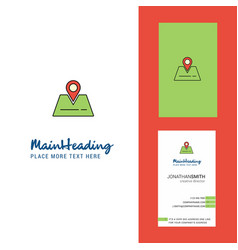 location creative logo and business card vertical vector image