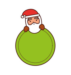 merry christmas santa claus badge decoration vector image