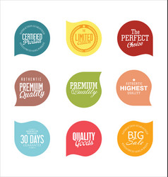 Modern badges colorful collection vector