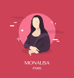 monalisa vector image