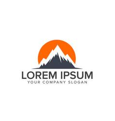 mountain logo design concept template vector image