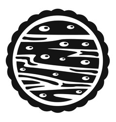 Nuts on cake icon simple style vector