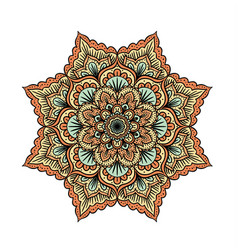 outline mandala vector image