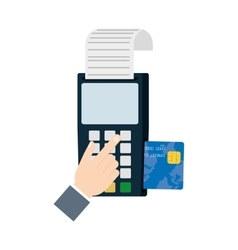 payment credit card dataphone shop vector image