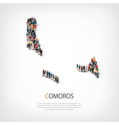 people map country Comoros vector image