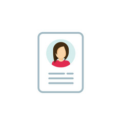 Personal info icon isolated vector