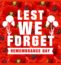 Poster for world remembrance day vector
